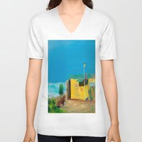 jamaica V-neck T-shirts featuring Jamaica. Jamaican Blues by ANoelleJay