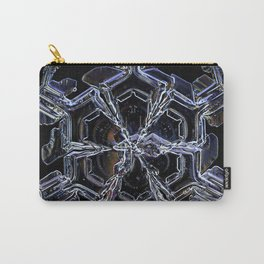 Water as a Crystal, pattern snowflake art on leggings and more! Carry-All Pouch