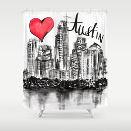 I love Austin Shower Curtain