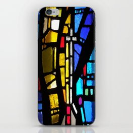 Stained Glass with Cross iPhone Skin