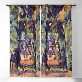 Paul Cezanne The Alley in Chantilly 1888 Blackout Curtain
