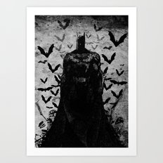 The night rises B&W Art Print