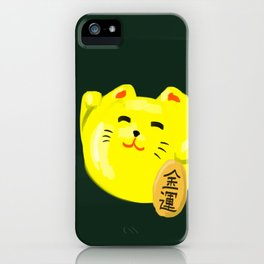 Neko Cat Yellow iPhone Case