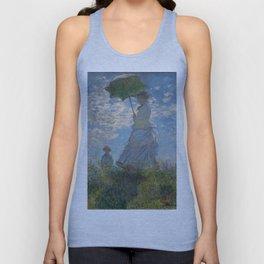 Claude Monet, Woman with a Parasol Unisex Tank Top