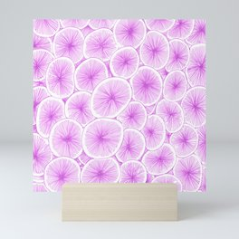 Purple seeds Mini Art Print