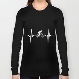 Heartbeat bike. Cycling Long Sleeve T-shirt