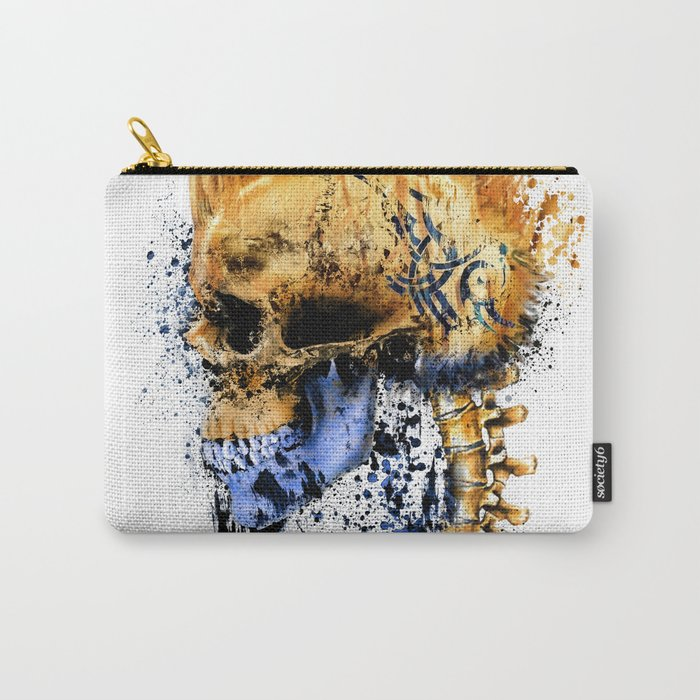 Golden Skull Carry-All Pouch