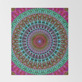 BoHo mandala Throw Blanket