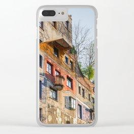 Hundertwasserhaus Vienna Austria Clear iPhone Case