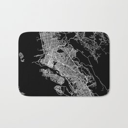 oakland map california Bath Mat