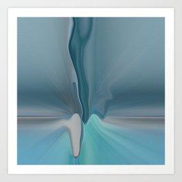 Melting Sea Glass Abstract Art Print
