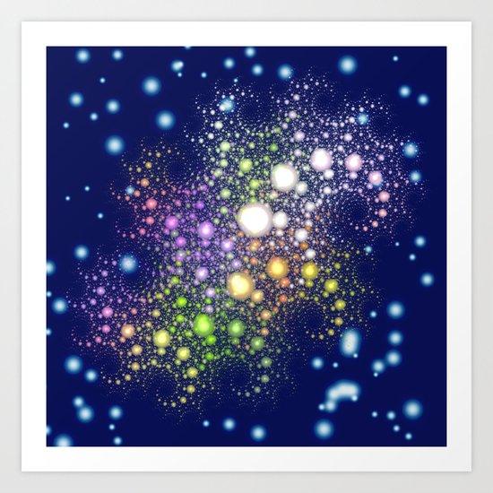 Space Pearls Art Print
