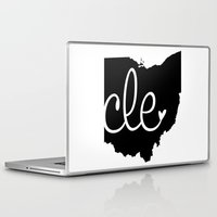 cleveland Laptop & iPad Skins featuring Love Cleveland by anastasia5