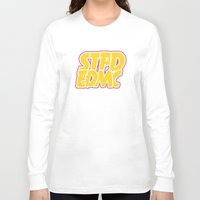 font Long Sleeve T-shirts featuring Font Extra by STUPID ENDEMIC CLOTH