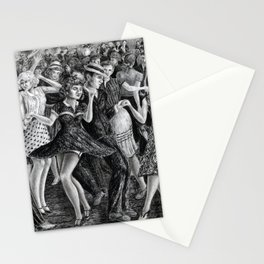 untitled - charcoal drawing Stationery Cards