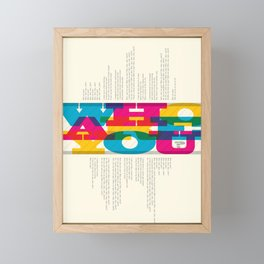 Who Are You? #1 Framed Mini Art Print