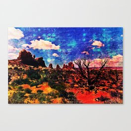 Scorching Canvas Print