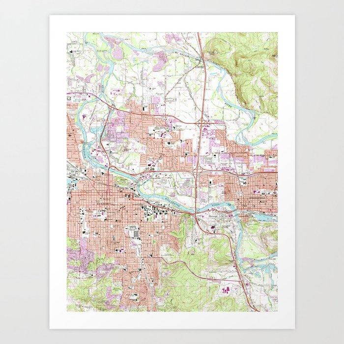 Map Of Eugene on