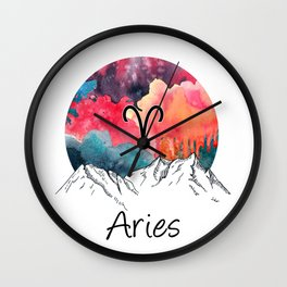 Aries Zodiac Wall Clock