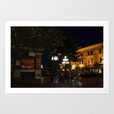 Steamclock in Vancouver Art Print
