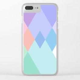 Geometric Pattern in Soft Hues Clear iPhone Case