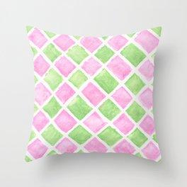 Pastel squares Throw Pillow