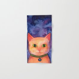 Ginger Cat in Space Hand & Bath Towel