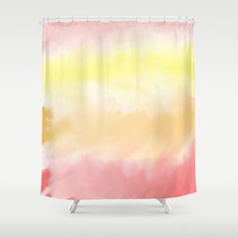 Warm Watercolor Color Pattern Shower Curtain