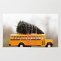 christmas tree Area & Throw Rugs featuring Christmas Tree by Beverly LeFevre
