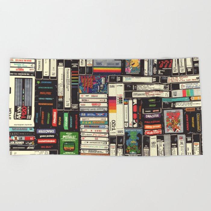 Cassettes, VHS & Games Beach Towel