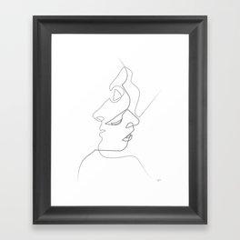 Close on white Framed Art Print