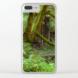Autumn Greens Clear iPhone Case