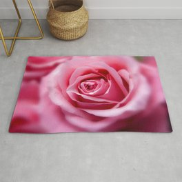 Magnificent Gracious Pink Rose Blossom Close Up Ultra HD Rug