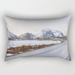 The road in the mountains Rectangular Pillow