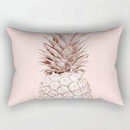 Rose Gold Pineapple on Blush Pink Rectangular Pillow