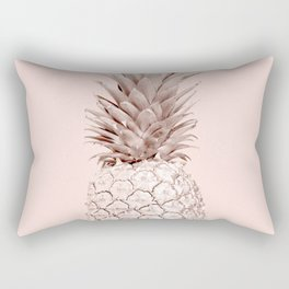 Rose Gold Pineapple on Blush Pink Rectangular Pillow