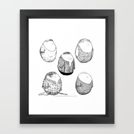 One Direction Eggs Framed Art Print