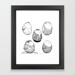 One Direction Eggs Framed Art Print