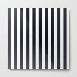 Vertical Stripes Black & White Metal Print