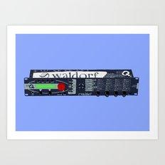 Waldorf Micro Q Art Print