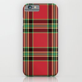 Classic Christmas Tartan Plaid iPhone Case