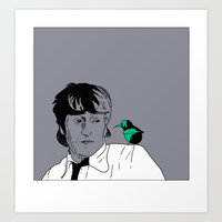 john green Art Prints featuring John by Cyrille Savelieff