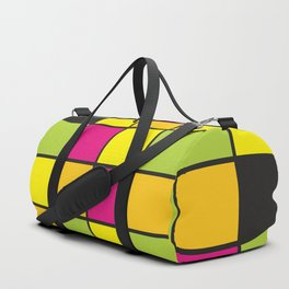 Bright neon colors square pattern Duffle Bag