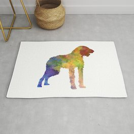 German Wirehaired Pointer in watercolor Rug