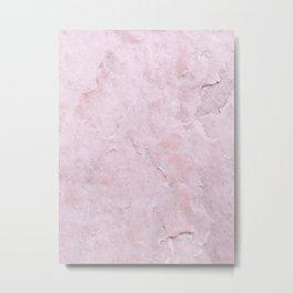 Sweet Pink Marble Metal Print