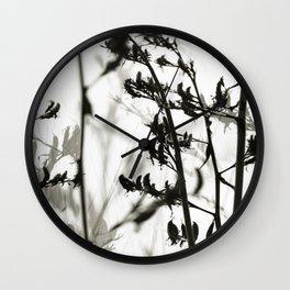 New Zealand Flax silhouettes Wall Clock
