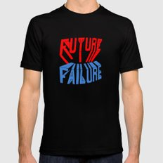 future failure hand lettering MEDIUM Mens Fitted Tee Black
