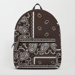 Classic Coffee Brown Bandana Backpack