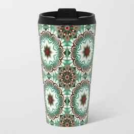 Decorative Christmas patterns in red, green and white Travel Mug