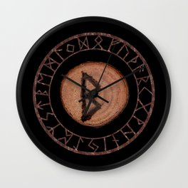 Berkano Elder Futhark Rune secrecy, silence, safety, mature wisdom, dependence, female fertility Wall Clock